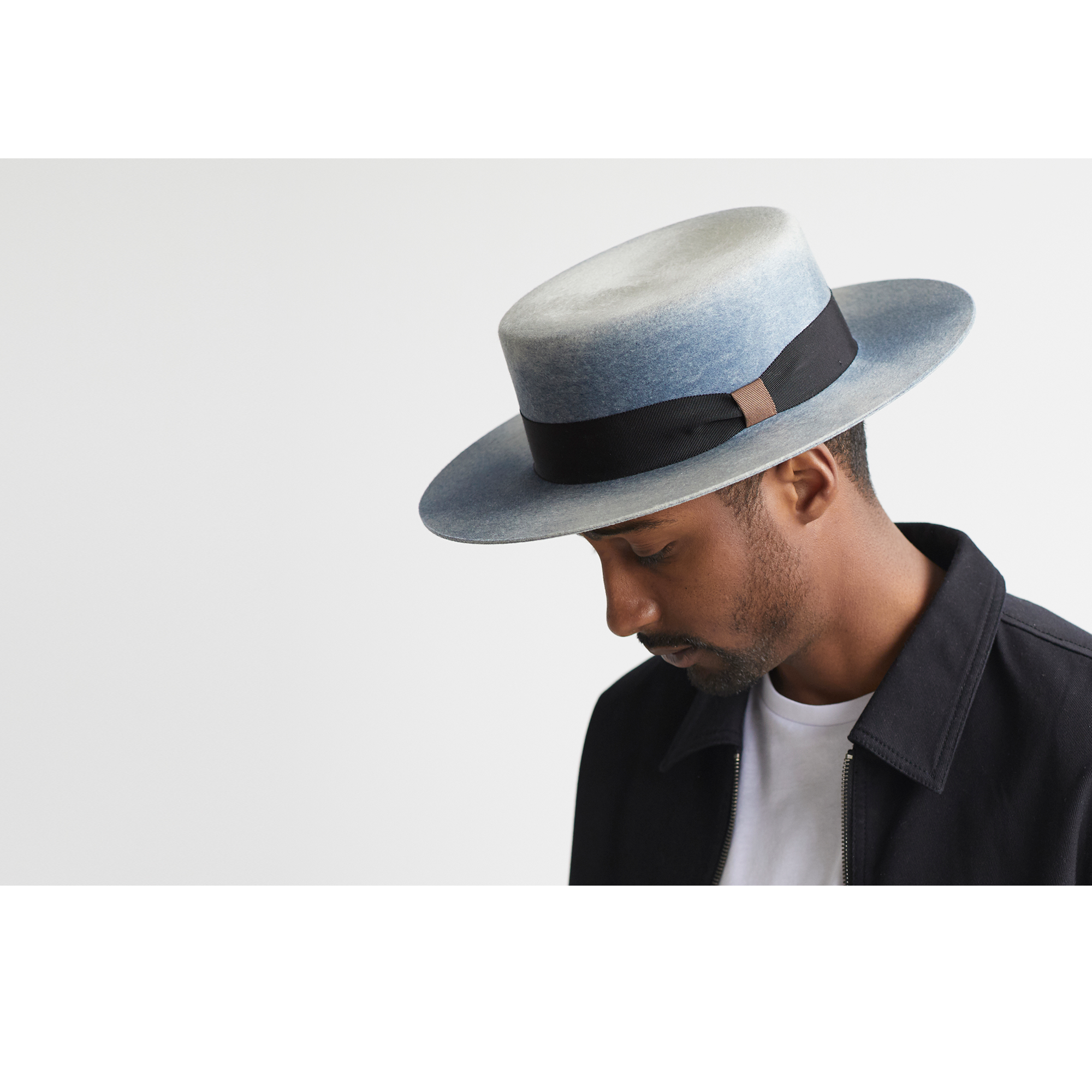 Goorin Skyline Fedora Hat in Green/Blue, size Small