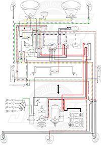 1966-67 VW Beetle Wiring Diagram