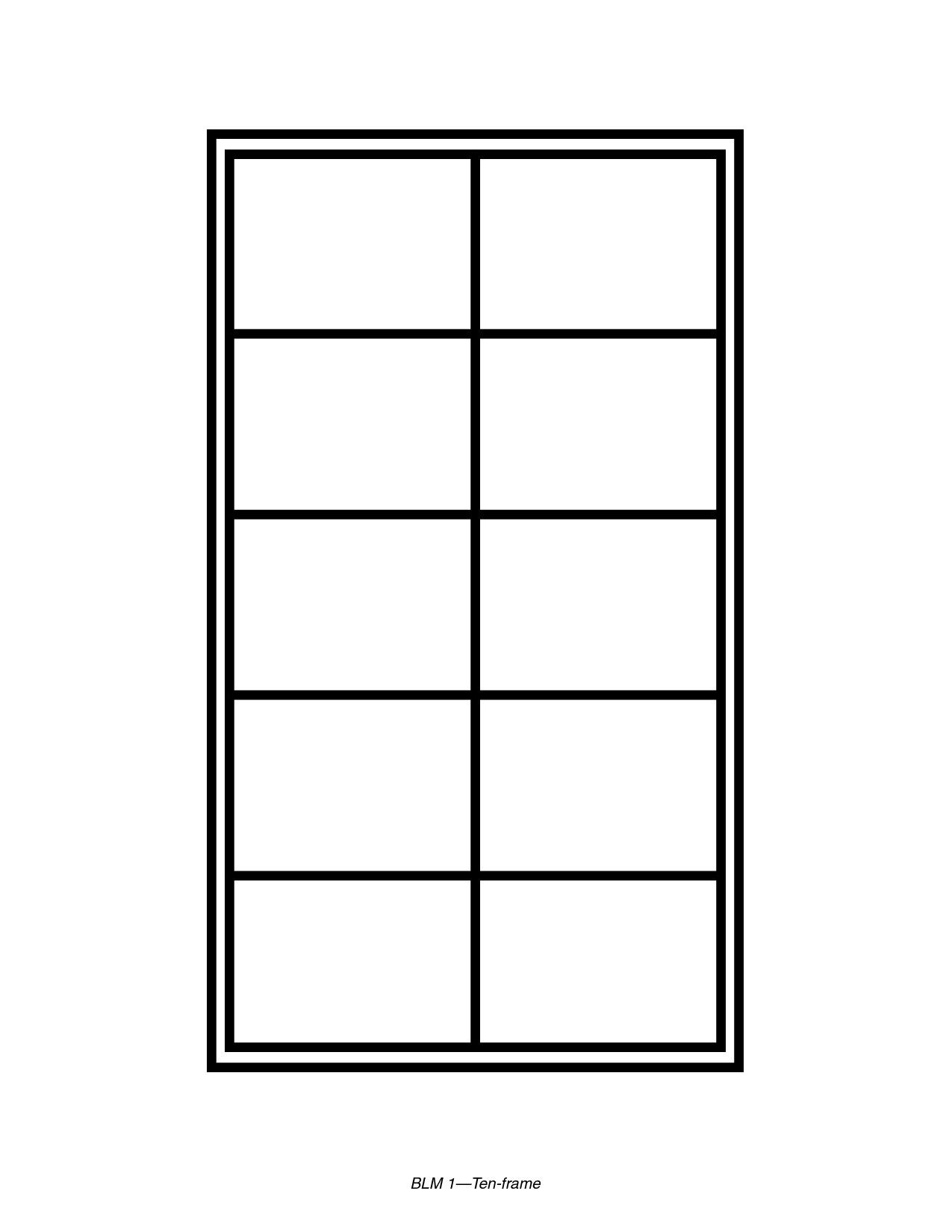 Ten Frame Template Printable Math Calcoli Pinterest Math