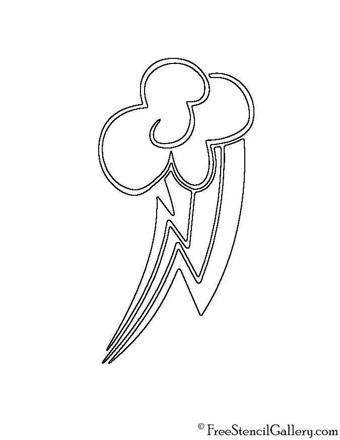 My Little Pony Rainbow Dash Cutie Mark Stencil