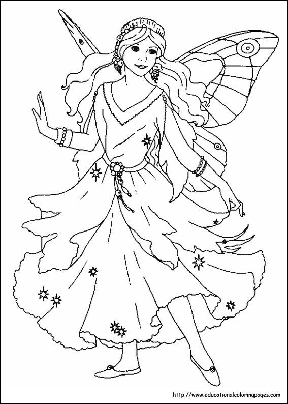 Marvelous Fairy Coloring Books 22 Fairies Coloring Pages