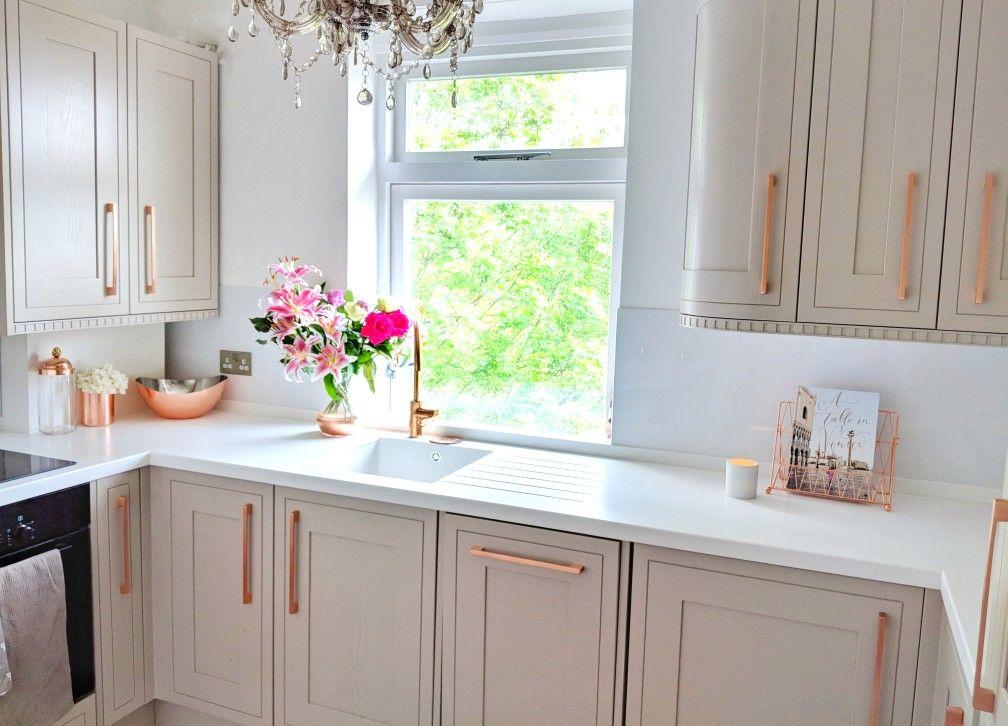 Kitchen Copper Rosegold Corian White Mink Kitchen Design Decor Kitchen Home Decor Kitchen