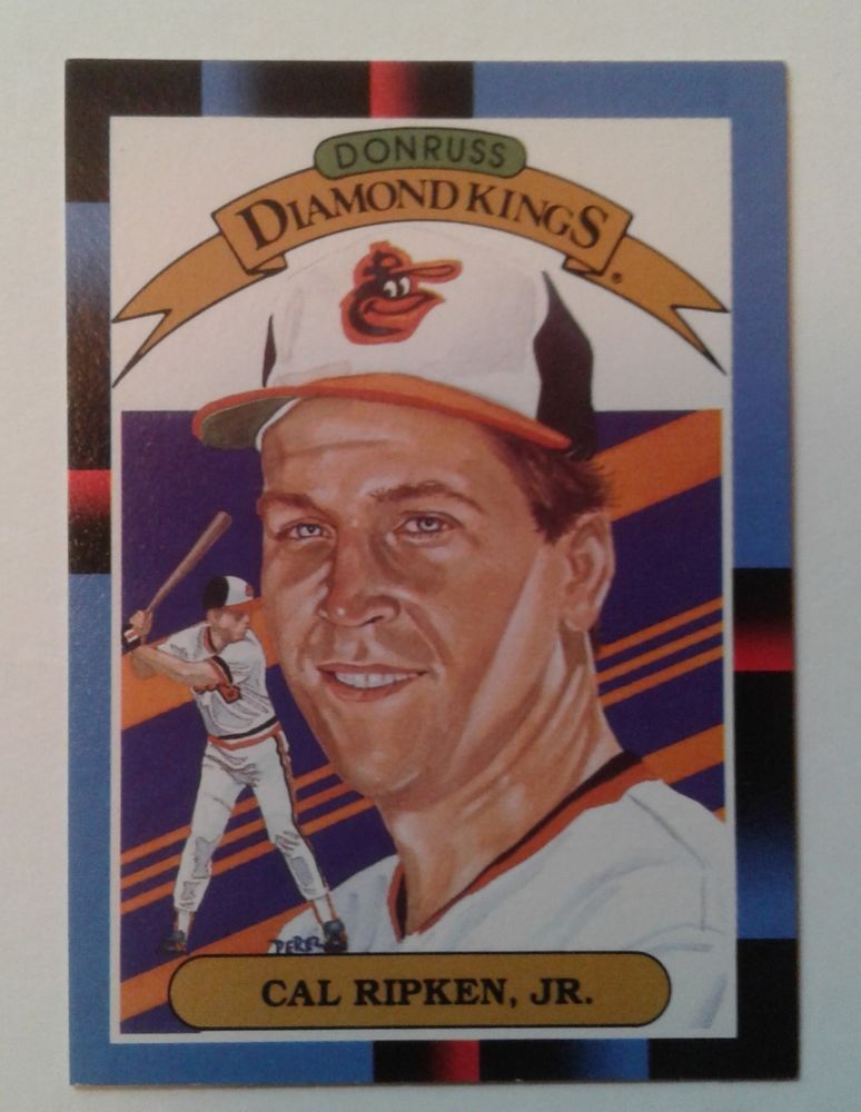 1987 leaf donruss diamond kings cal ripken jr card 26