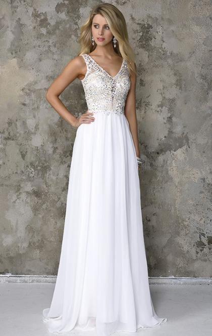 2016 Cheap Long White Tailor Made Evening Prom Dresses (LFNDB0007 ...