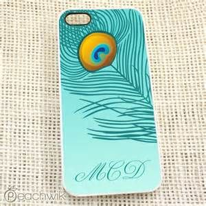 Peacock Feather Personalized Iphone Case By Peachwik