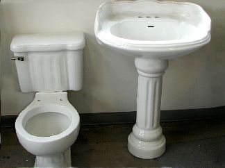matching fluted pedestal sink and