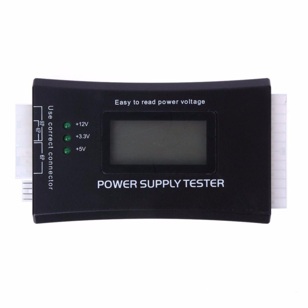 Digital Display Lcd Pc Computador 20 24 Pin Poder Supply Tester Checker Testador De Diagnostico Ferramentas De Medicao De Energ Pc Computer Tester Power Supply
