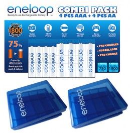 Buy Sanyo Eneloop Combi Pack 4 X Aa 4 X Aaa 2 Battery Case S For 19 98 Positiverecharge Co Uk Sanyo Battery Cases Case