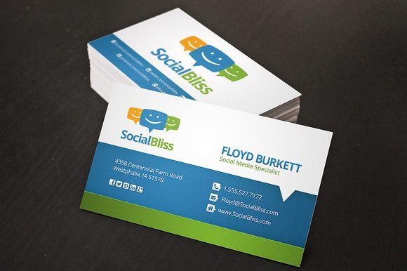 Social Media Business Card   Best Business cards ideas