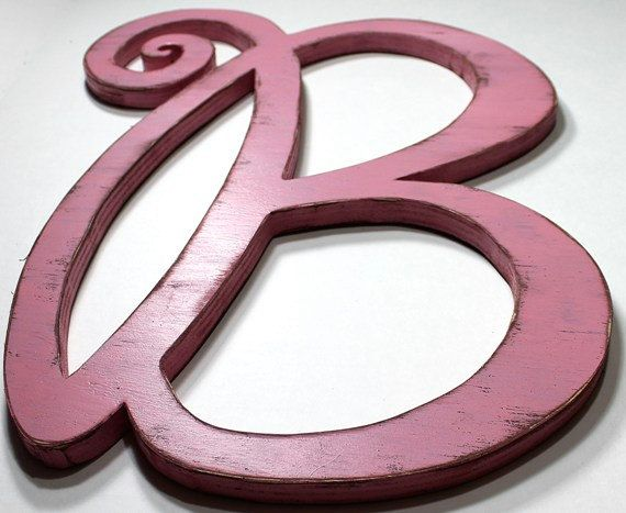 18 inch wooden letter b wedding decor wood letters shabby chic