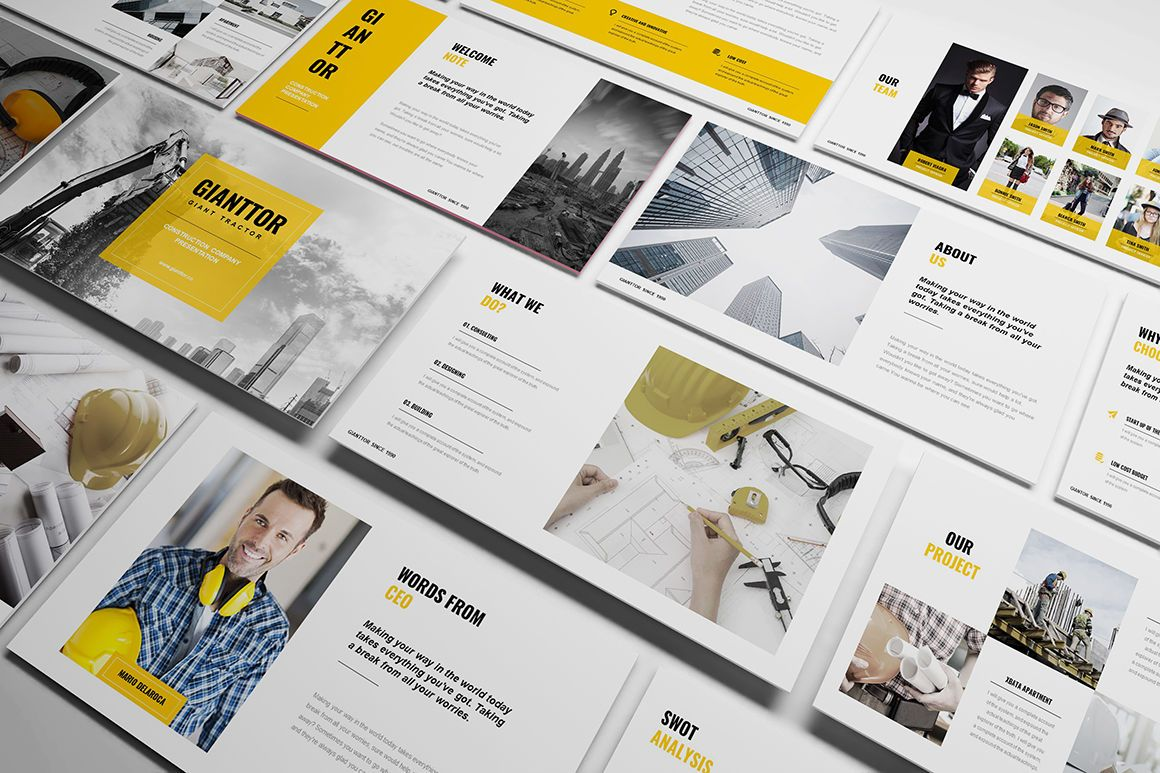 Construction Powerpoint Template By Incoolsstokie Thehungryjpeg