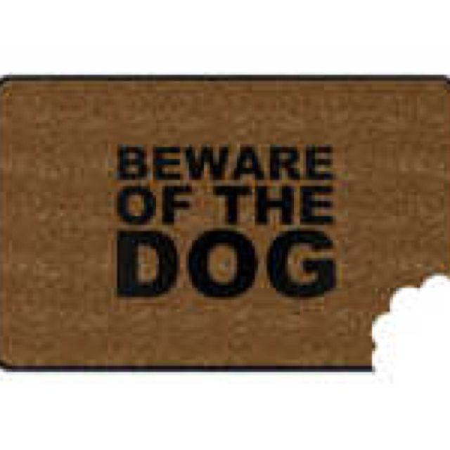 Warning door mat...