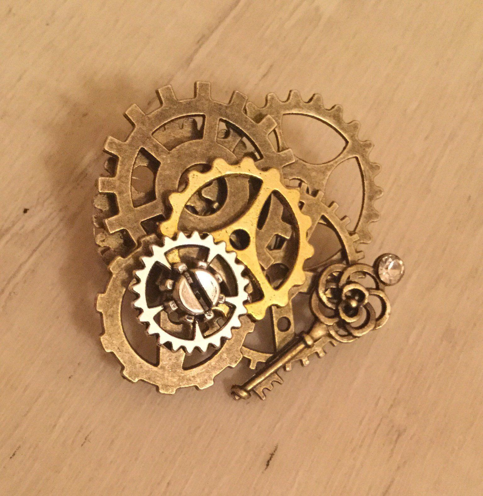 14 Gear SteamPunk Pin   Etsy
