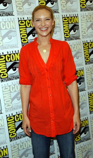 Anna Torv in red top-I think I'd wear it with leggings and boots