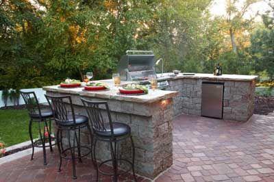 15 hermosas cocinas de exterior insp rate barra de for Cocina exterior jardin