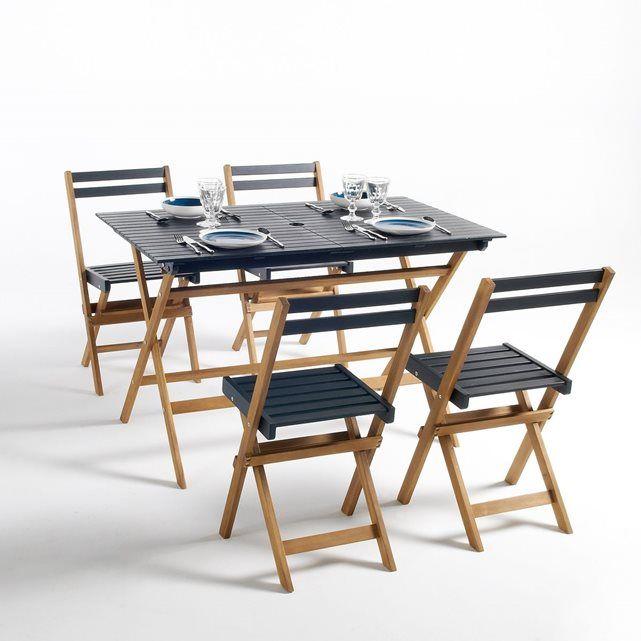 Table de jardin + 8 chaises Happy Garden en résine tressée ...