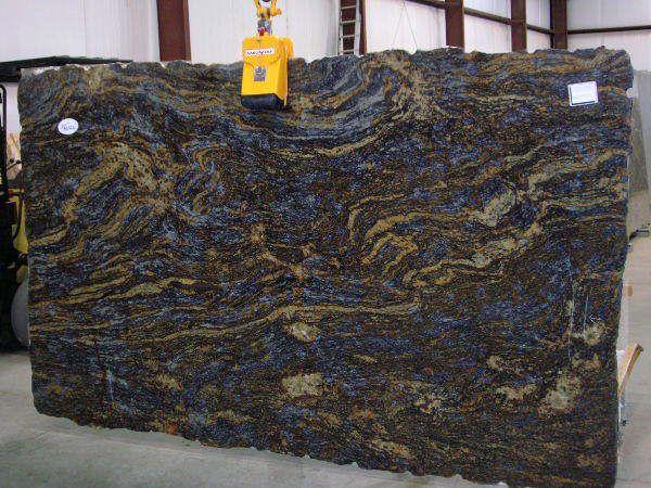Granite Slab From Brazil Cinderella Blue Www Granitemarblewa Com Granite Slab Blue Countertops Stone Masonry