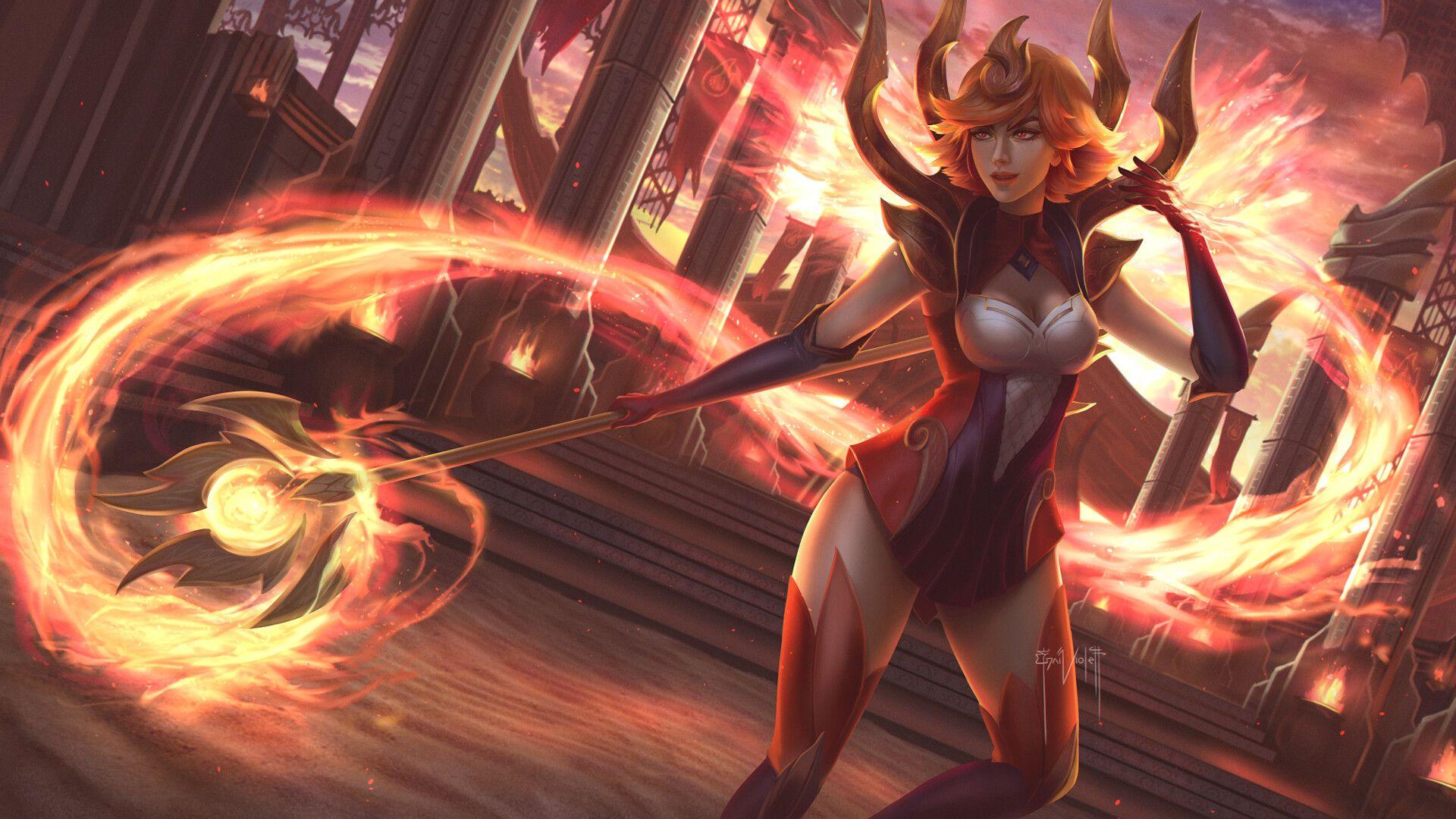Elementalist Lux Fire Lol League Of Legends League Of Legends Cute Anime Pics