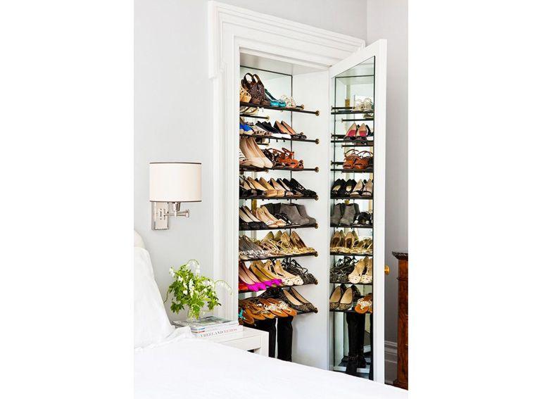 6.scarpiera-nicchia-nel-muro-anta-a-specchio | casa | Pinterest
