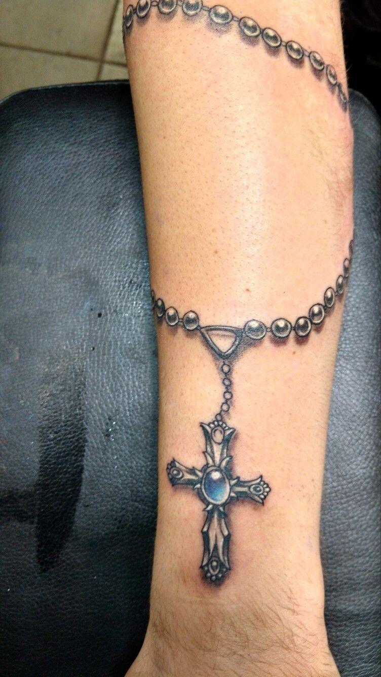 Bracelets wrist tattoos for men - Rosary Tattoo