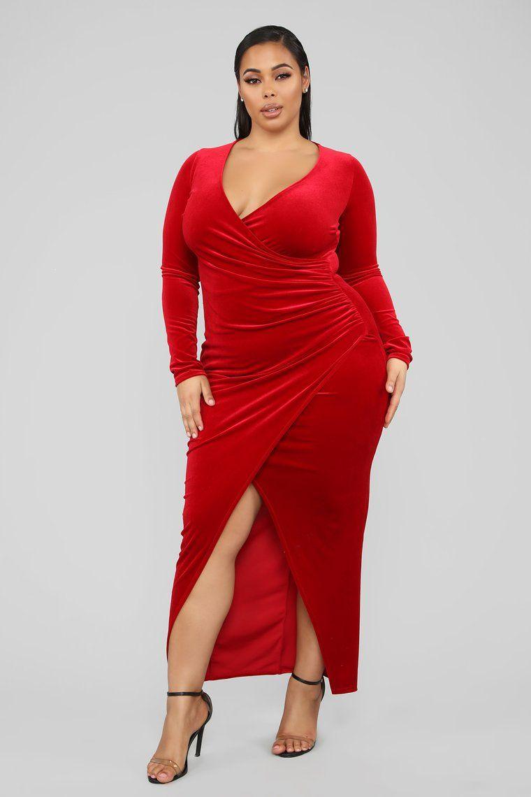 Never Ending Night Maxi Dress - Red – Fashion Nova  Plus size