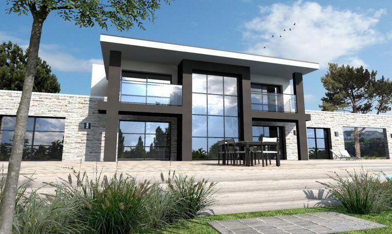 Maison ultra moderne noir et blanc Nantes - Depreux Construction ...