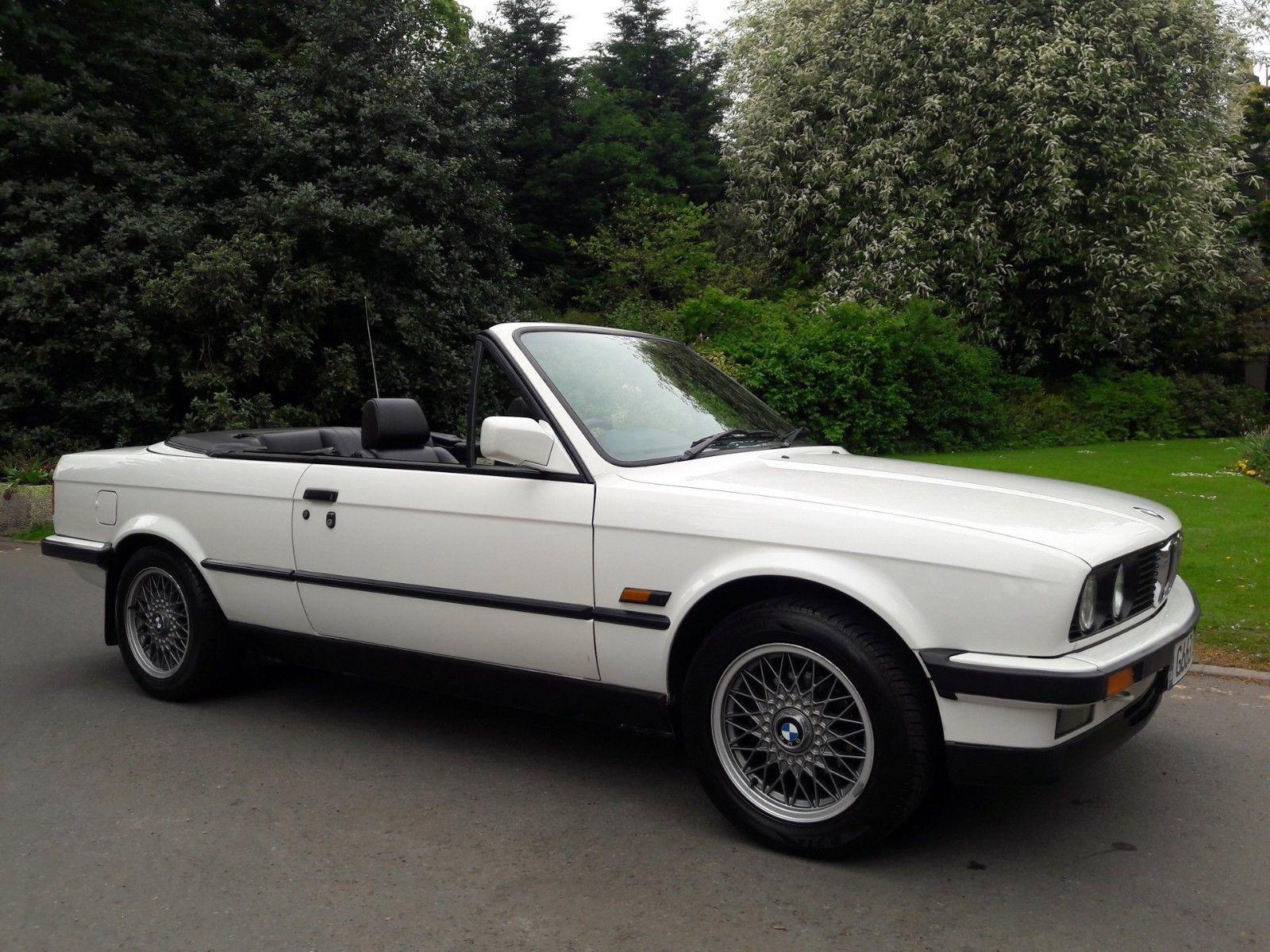 Ebay 1990 E30 Bmw 325i Cabriolet Auto White Convertible Family