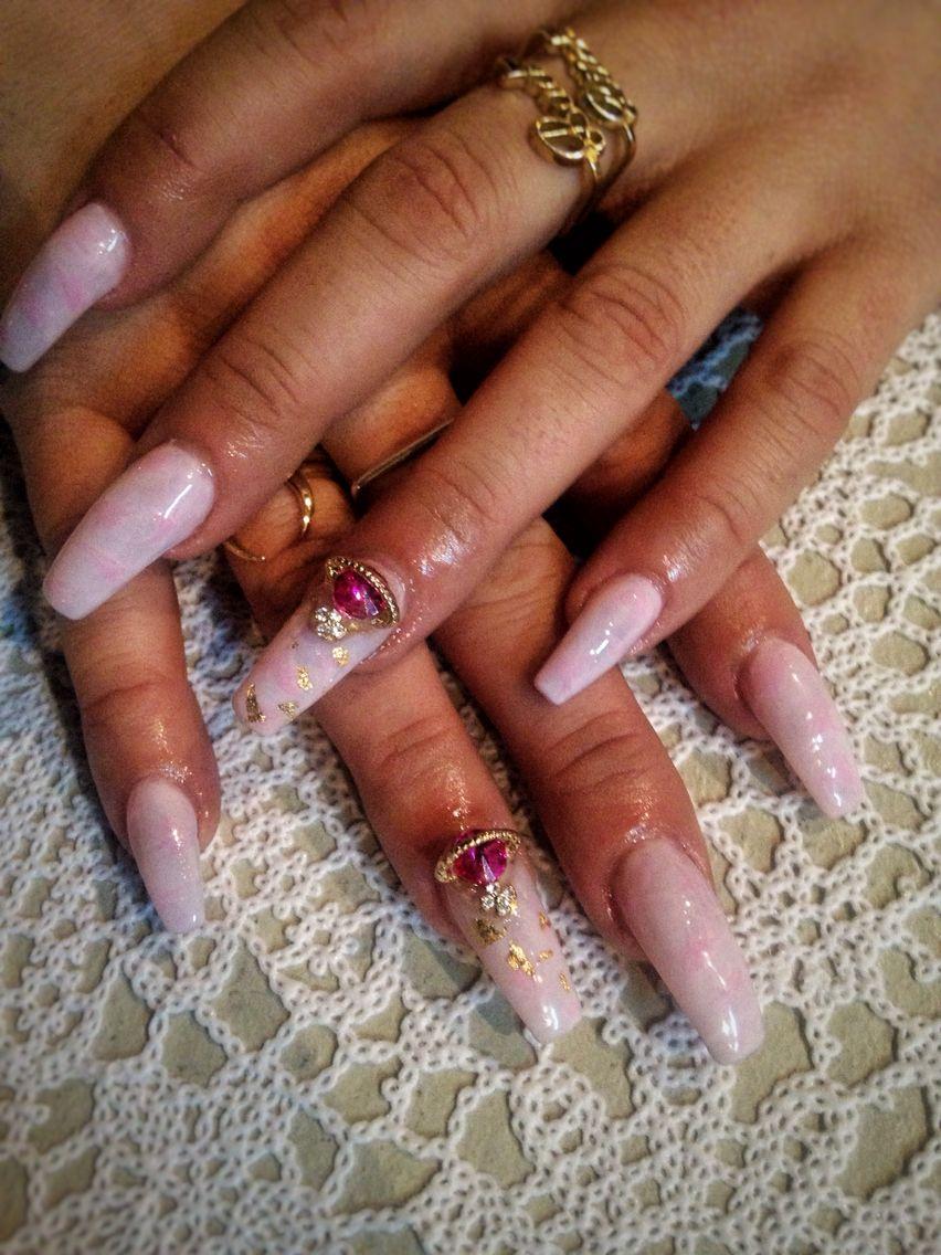 Acrylic nails designed by Sarah at Local Honey. #nailart #fakenails ...