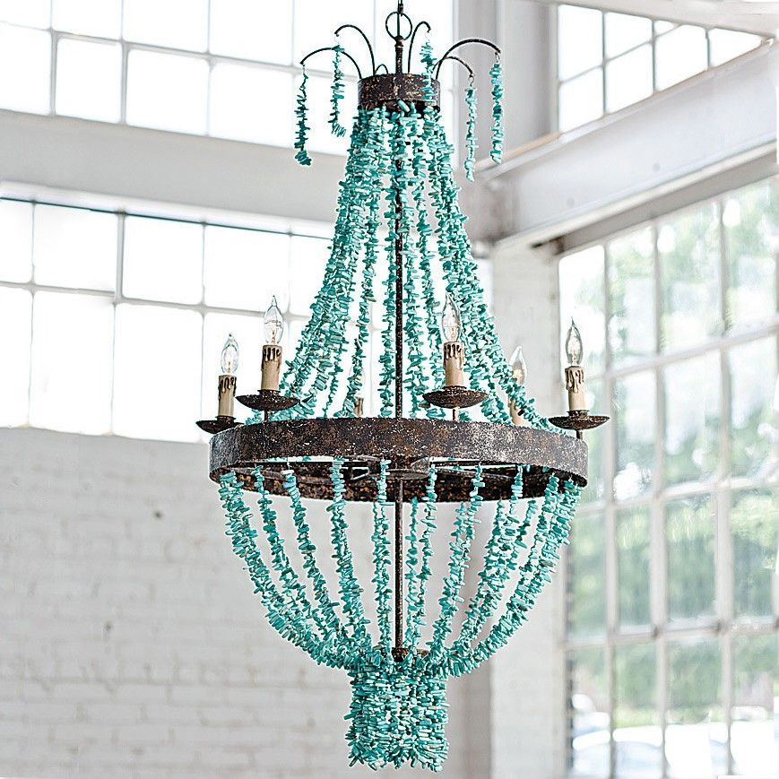 Regina Andrew Lighting Turquoise Beaded Chandelier
