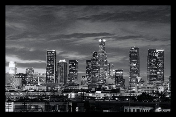 Los Angeles In Black And White Architecture Prints Los Etsy Architectural Prints Los Angeles Skyline Black And White