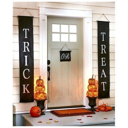 Trick or Treat Halloween Banner 3-Pc Set Home or Office Decor Ready