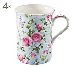 Set de 4 mugs Otoño