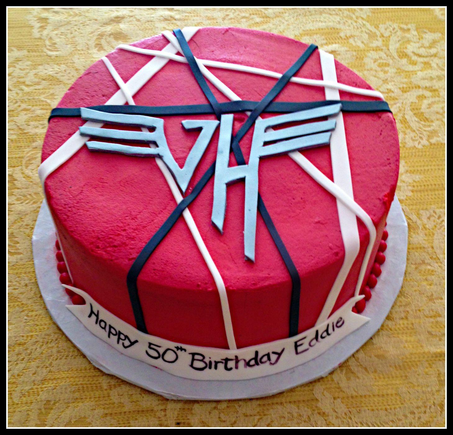 Van Halen 50th Birthday Cake I Love My Wife And Daughter Funny Birthday Cakes Cake No Bake Cake