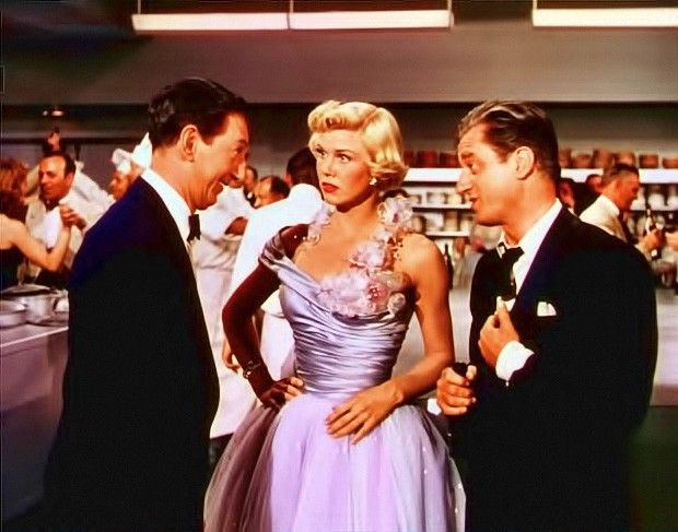 Ray Bolger, Doris Day and Claude Dauphin in April in Paris