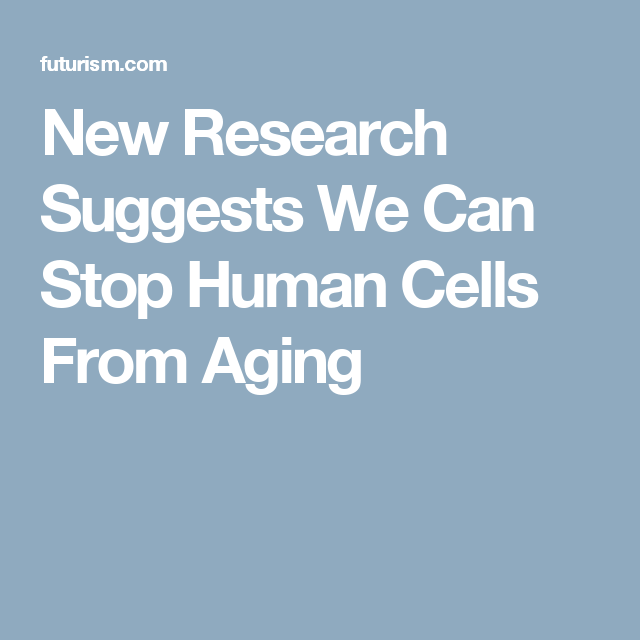 New Research Suggests We Can Stop Human Cells From Aging