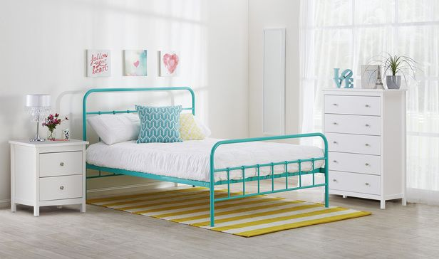 Willow Double In Aqua With Hayman Tallboy Side Table