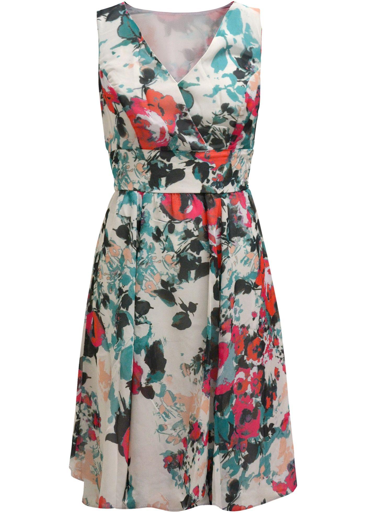 30c3d51ce Vestido evasê estampado rosa estampado encomendar agora na loja on-line  bonprix.com.