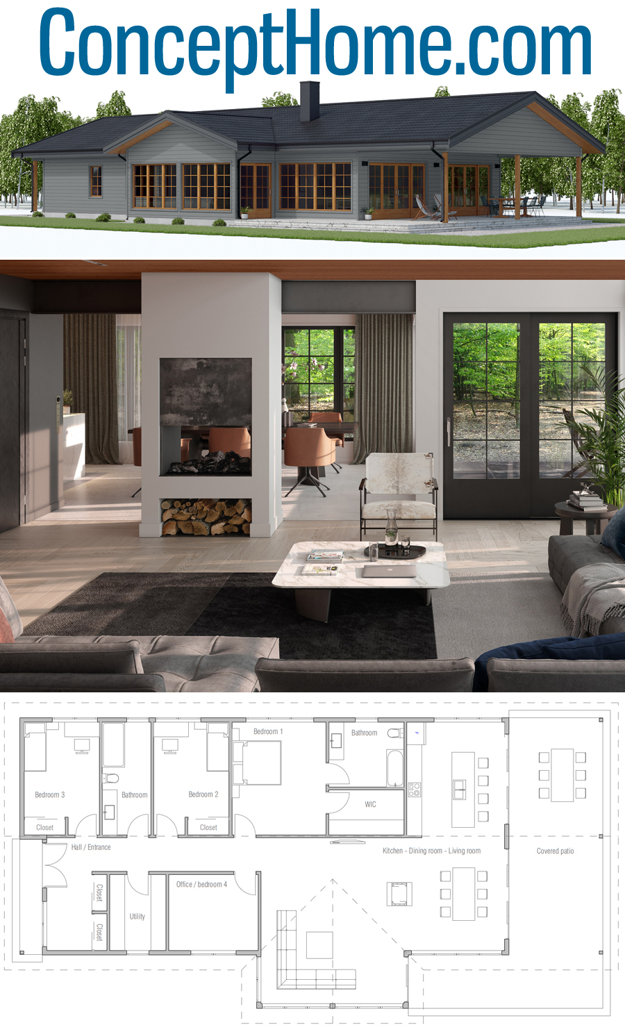 Interior Design Ch550 House Layouts Architecture House Modern Farmhouse Plans