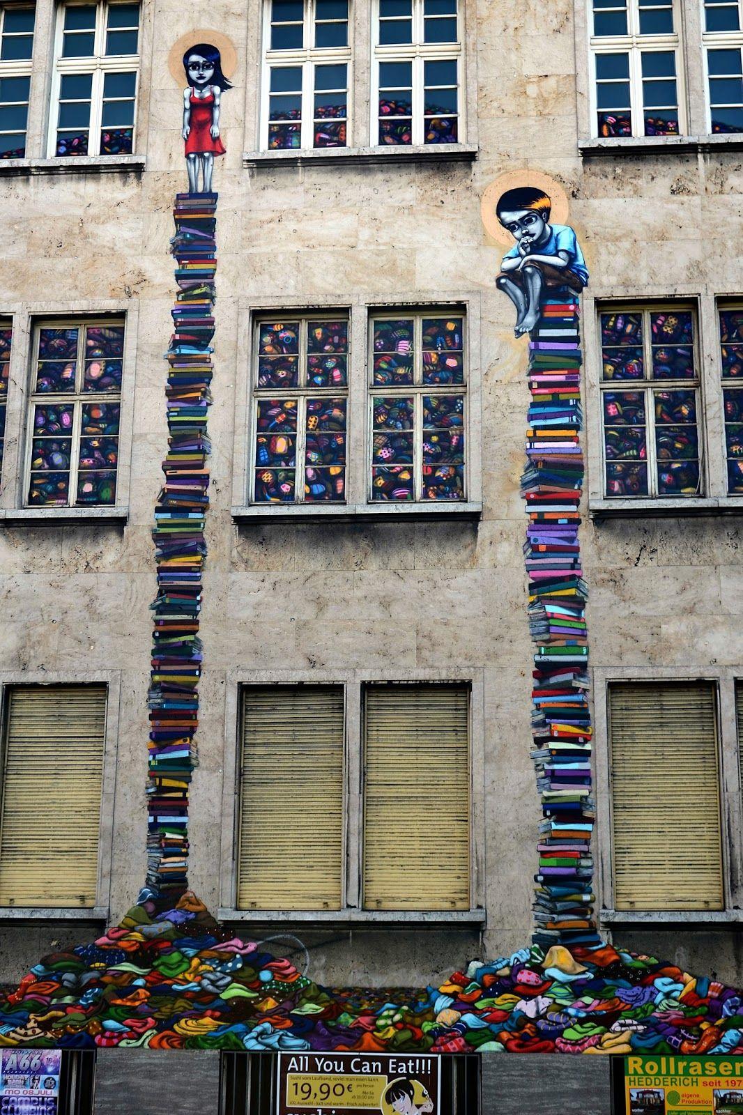 Déjate Llevar Por Pejac Y Su Surrealismo Dentro De Las Calles - Building in berlin gets transformed by amazing 137 foot tall starling mural