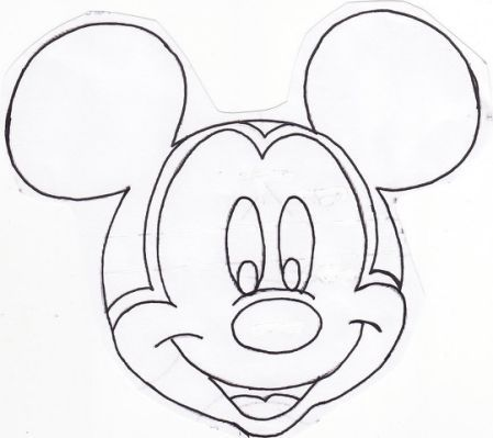 Patron Para Pintar La Cara De Mickey Art And Craft Shows Mickey Mouse Parties Mickey Mouse