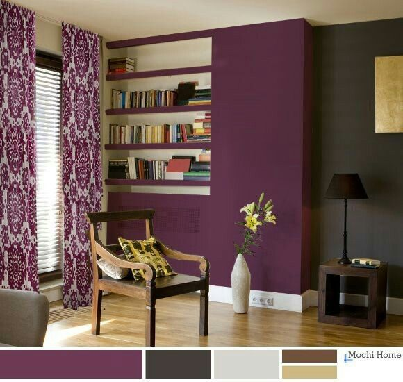Green Wall Color Scheme And Purple Beds In Small Teenage: Pin By Amanda Creek On Home/decor