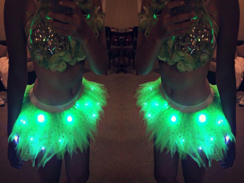 ca4f5988a6 Light Up Tinkerbell Tutu Cosplay Fancy Dress Fairy Costume Tinkerbell  Running Tutu Fairy Costume