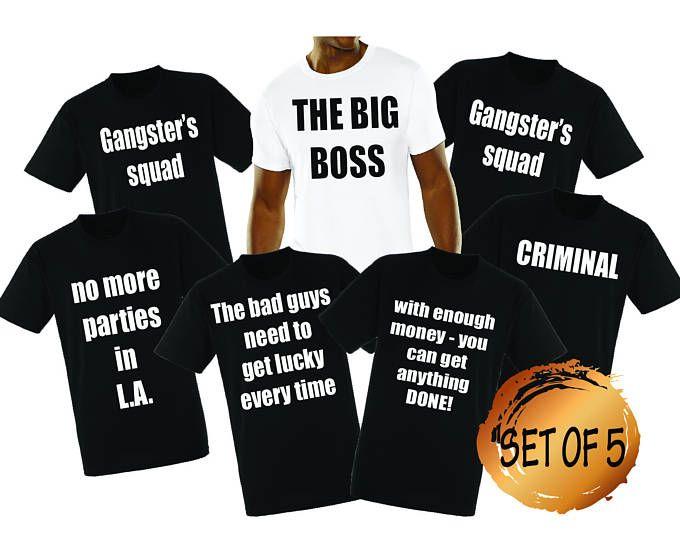 e043b7b3e91d6e SET OF 5 Pablo Escobar Stag party shirts