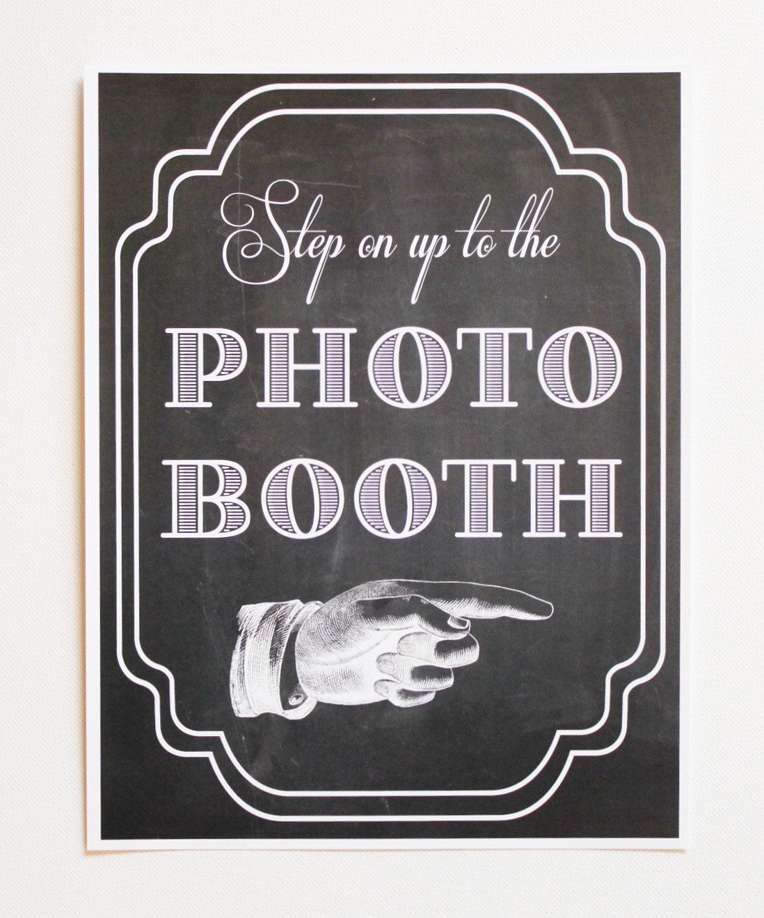 Printed Photo Booth Sign Prop Photobooth BoothChalkboard Wedding Reception Chalk