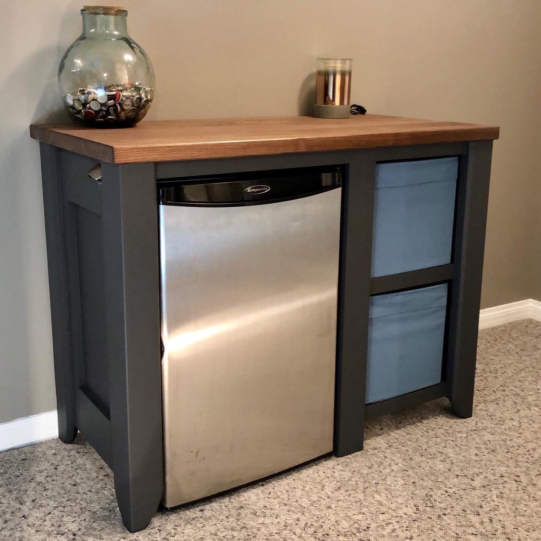 Mini Fridge Cabinet Start To Finish, Mini Bar Fridge Cabinet Ikea