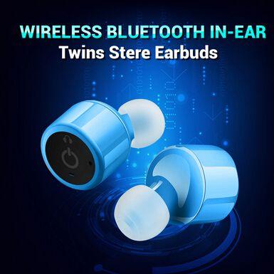 True Wireless Stereo Headphones Bluetooth Earbuds Earphones Noise Canceling (Blue) $20.99 BY FREE SHIPPING!