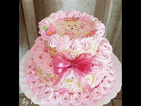 Bolo De 2 Andares Ursas Princesas Youtube Com Imagens Bolo 2
