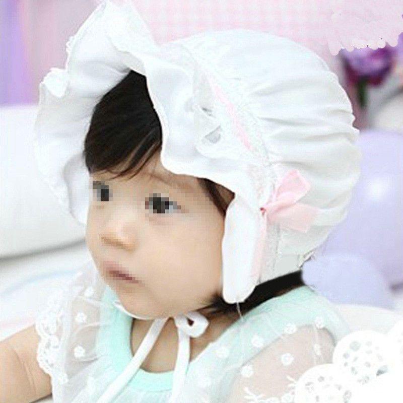 13585a6d £1.59 GBP - Uk Hot Cute Kid Girl Baby Lace Bow Flower Summer Bonnet Cap  Beanie Bucket Hats #ebay #Home & Garden