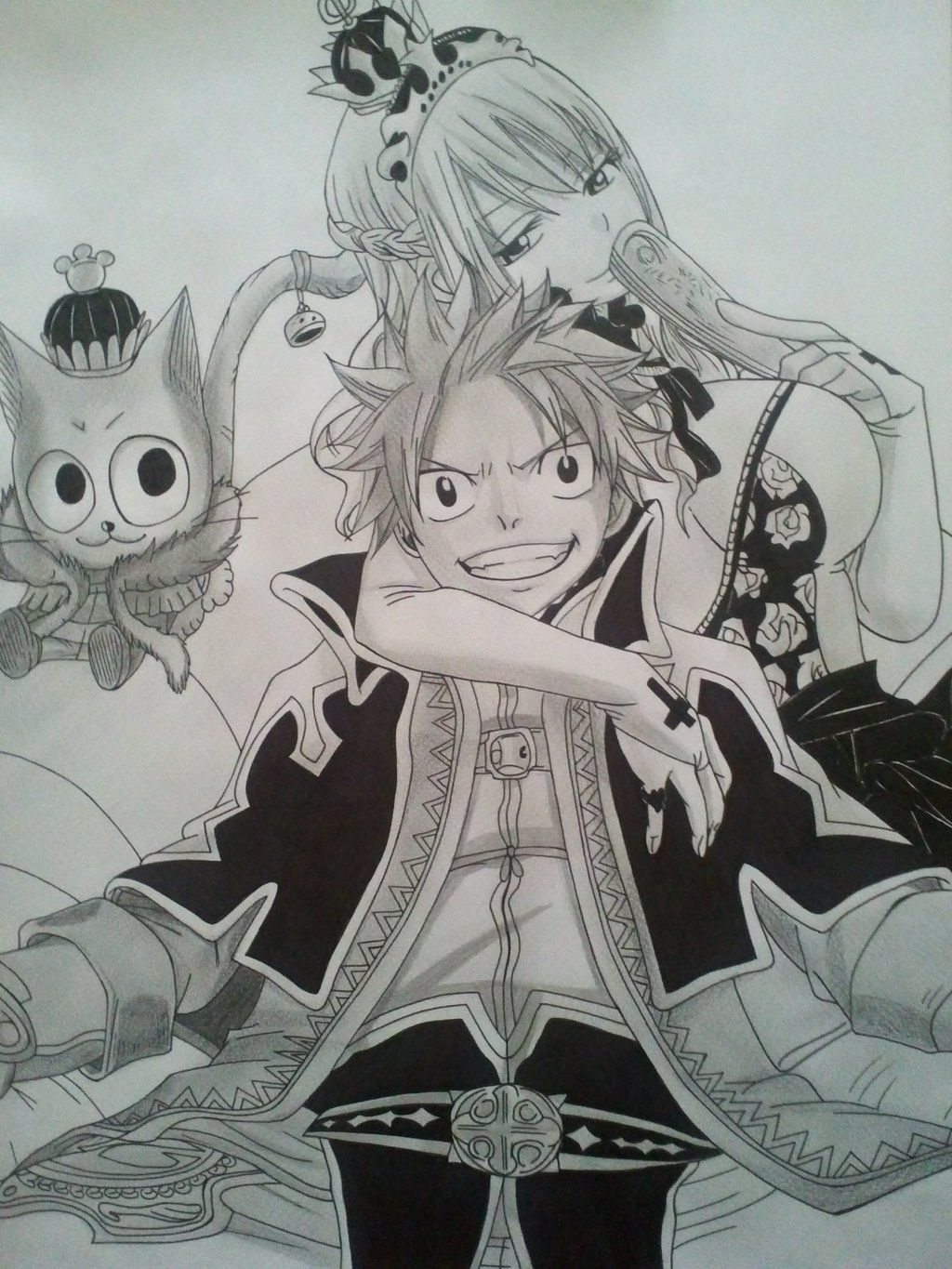 Fairy tail natsu lucy and happy drawing by sagedemijan jordyn 39 s board fairy tail drawing - Fairy tail lucy et natsu ...