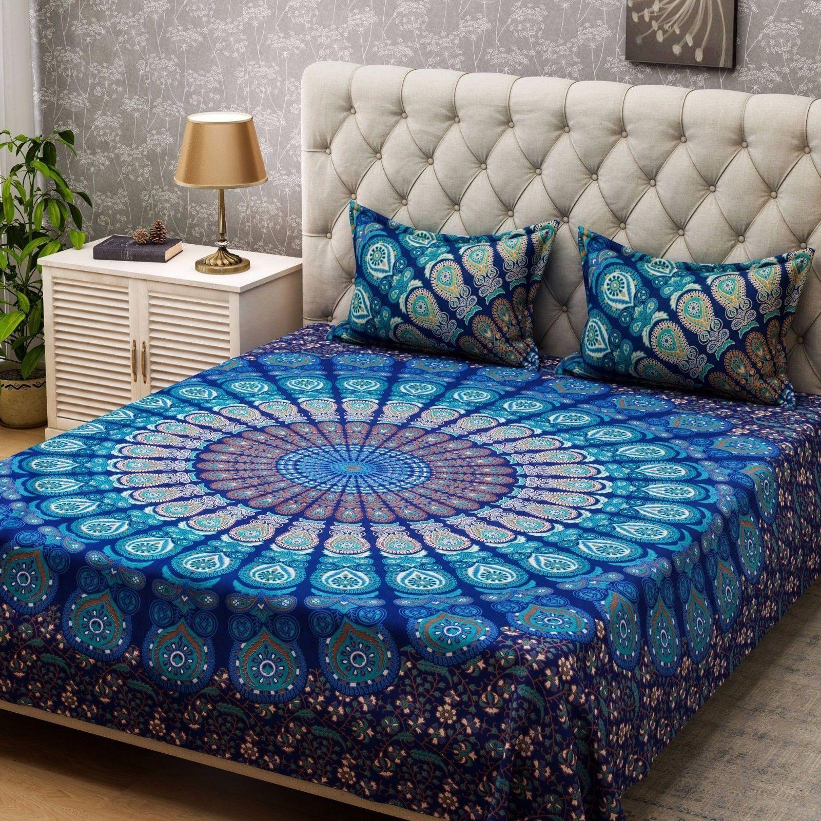Indian Multi color Duvet Doona Cover Comforter Mandala